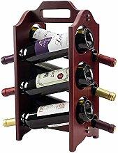 GUOCAO 6-bouteille de vin rack étagères de