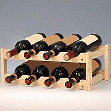 GUOCAO Maison en bois Wine Rack classique 8
