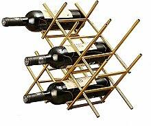 GUOCAO Métal Wine Rack Porte-autoportant