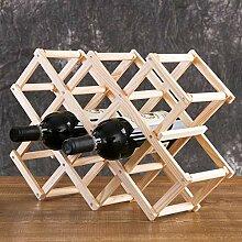 GUOCAO Porte pliable comptoir en bois Cabinet Vin