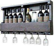 GUOCAO Racks vin mural en bois Meuble, Champagne