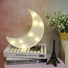 GUOCHENG Jolie veilleuse à LED en forme de lune