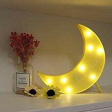 GUOCHENG Jolie veilleuse LED en forme de lune à