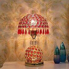GUOXY Lampe de Table En Cristal Européen Double