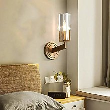 GUOXY Lampe Murale de Cuivre Moderne Or Chambre À
