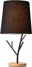 GUOXY Minimaliste Noir Tissu Lampe Shades Chambre