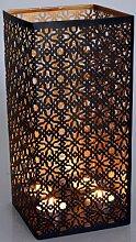 Guru-Shop Lampe-lanterne Carrée en Métal,