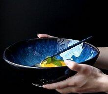 Gweat Style Japonais Bleu Rétro En Céramique