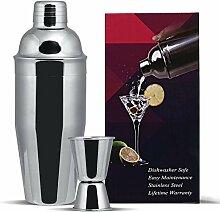 GWHOLE Kit Shaker à Cocktail en Inox 750ml avec