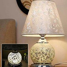 GXY Lampe de Table de Verre Double Lumière Source