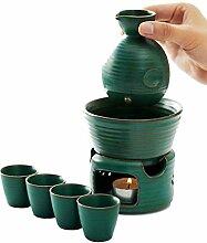 GYC Ensemble de saké avec marmite chauffante et