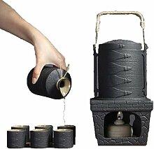 GYC Ensemble de saké et Tasses avec réchaud,