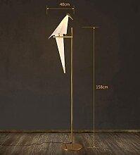 GYCS Art Déco Oiseau Papier Lampadaire Chambre