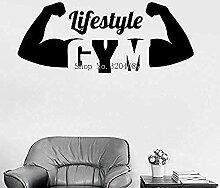 Gym Mode De Vie Sain Motivation Vinyle