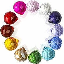 H&D HYALINE & DORA 30mm coloré Boule de Cristal