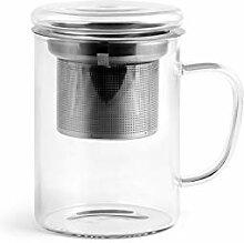 H&H 51172 Mug en borosilicate avec filtre en acier