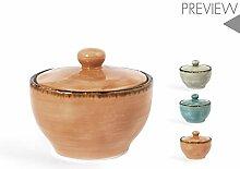 H&H 746529 Mediterranea Sucrier, porcelaine, 9,5
