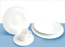 H&H Sucrier Porcelaine Superwhite avec Couvercle