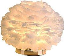 H HILABEE Nouveauté Plume Lampe de Table