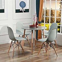 H.J WeDoo Ensemble Table et Lot de 4 Chaises de