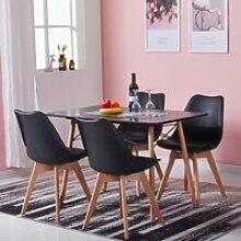 H.J WEDOO Table à Manger Moderne Complet de 2 à