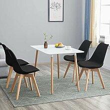 H.J WeDoo Table de Salle à Manger avec 4 Chaises,