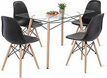 H.J WeDoo Table et Chaises de Cuisine, Table en