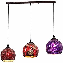 H.JPT Lampe Suspendue à 3 Lampes de Style