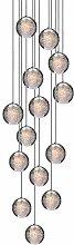 H.W.S Led Suspensions Lustre Escalier En Cristal