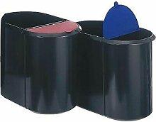 H6103993 Corbeille à papier 29 l plastique noir,