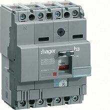 Hager - Disjoncteur boîtier moulé x160 4P 25kA