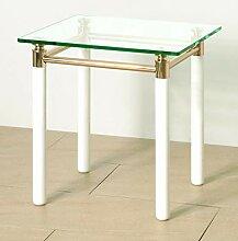 Haku Möbel 42331 Table d'Appoint Blanc/Doré