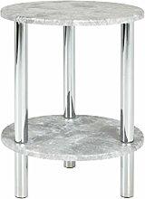 Haku Moebel 90443 Table d'Appoint, Acier,