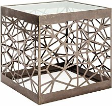 Haku Moebel table d'appoint, Acier, Bronze