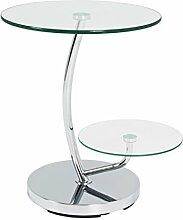 Haku Möbel table d'appoint, Acier, Chromé,