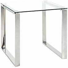 Haku Moebel Table d'appoint Acier INOX, 55 x