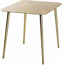 Haku Möbel Table d'appoint, Acier, Or, 55 x
