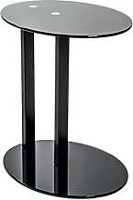 Haku Möbel Table d'appoint, Glass, Noir, P 35