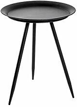 Haku Möbel Table d'appoint, Métal, Noir, Ø