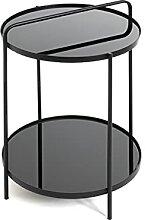 Haku Möbel Table d'appoint, Metal, Noir, Ø