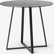 Haku, table ronde, noir et verre trempé