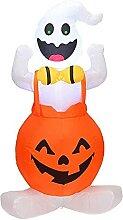 Halloween Gonflable Citrouille Fantôme Lampe