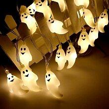 Halloween guirlande lumineuse 30 LED fantôme
