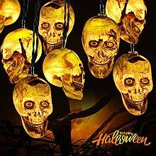 Halloween Guirlande Lumineuse Halloween Crâne (2M)