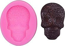 Halloween Skeleton Head Head Skull Silicone Diy