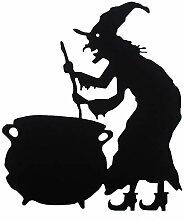 Halloween Sorcière Suspendus Signes Effrayant