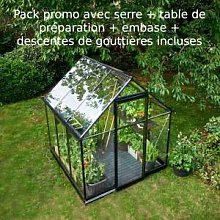 Halls Pack promo serre de jardin 3,9m² noire en