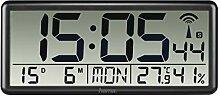 Hama Horloge Murale Radio-pilotée numérique