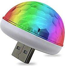 HAMKAW Mini Disco Light Portable USB, Boule Disco