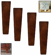 Hanghaijia Pieds de meubles en bois d'hévéa,